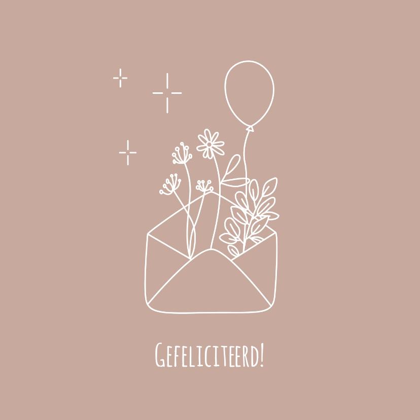 Felicitatiekaarten - Minimalistische felicitatiekaart