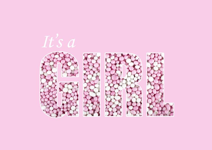 Felicitatiekaarten - Muisjes Girl