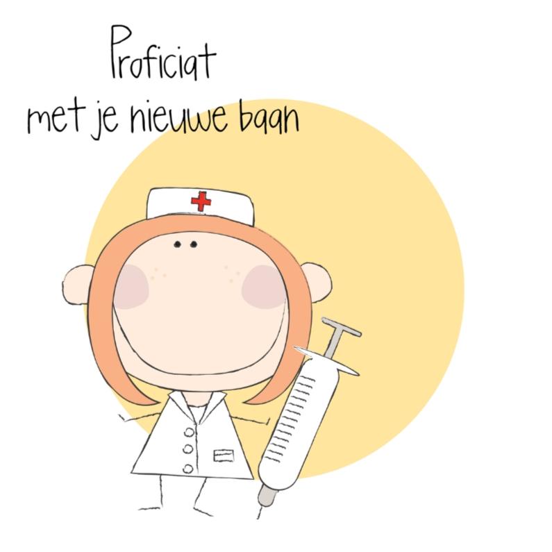 Felicitatiekaarten - Nieuwe baan verpleegster