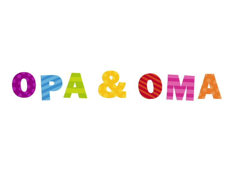 Felicitatiekaarten - Opa & Oma vrolijke letters