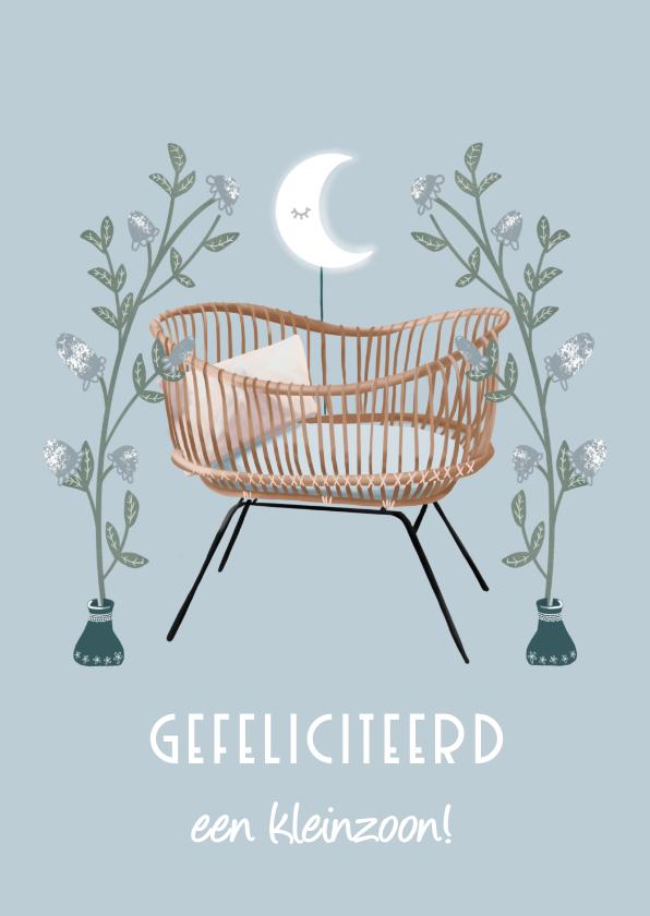 Felicitatiekaarten - Prachtige felicitatiekaart geboorte kleinzoon
