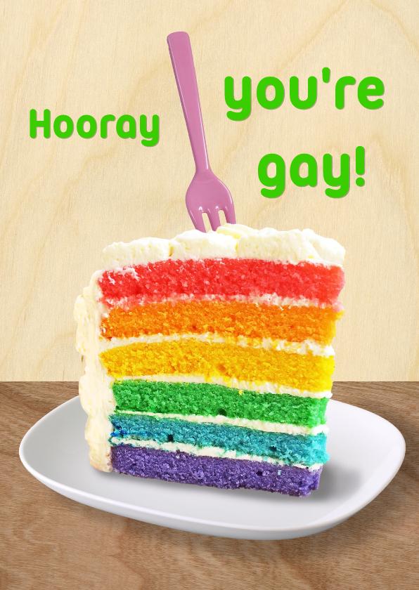 Felicitatiekaarten - rainbow cake