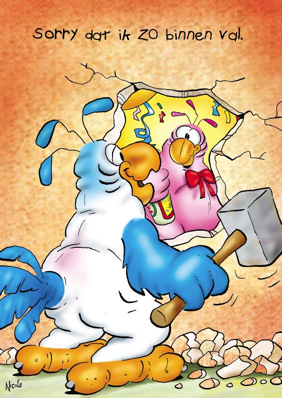 Felicitatiekaarten - rocco gefeliciteerd 5 rocco met hamer