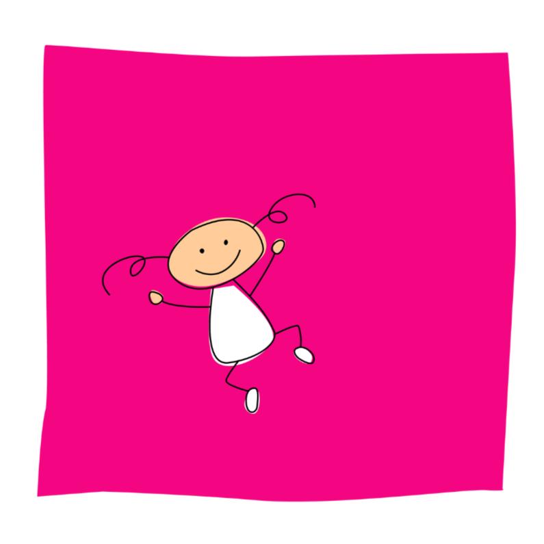 Felicitatiekaarten - Springend meisje