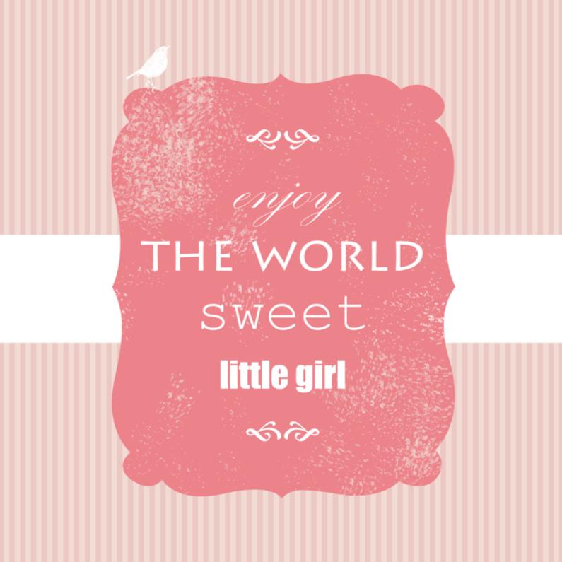 Felicitatiekaarten - Sweet little girl