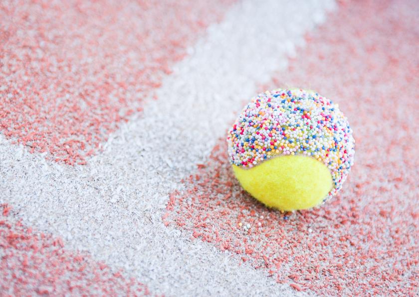 Felicitatiekaarten - Tennis - felicitatie of feest
