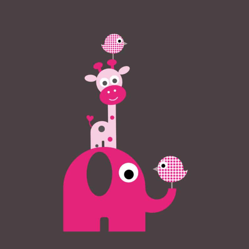Felicitatiekaarten - Torentje van dieren
