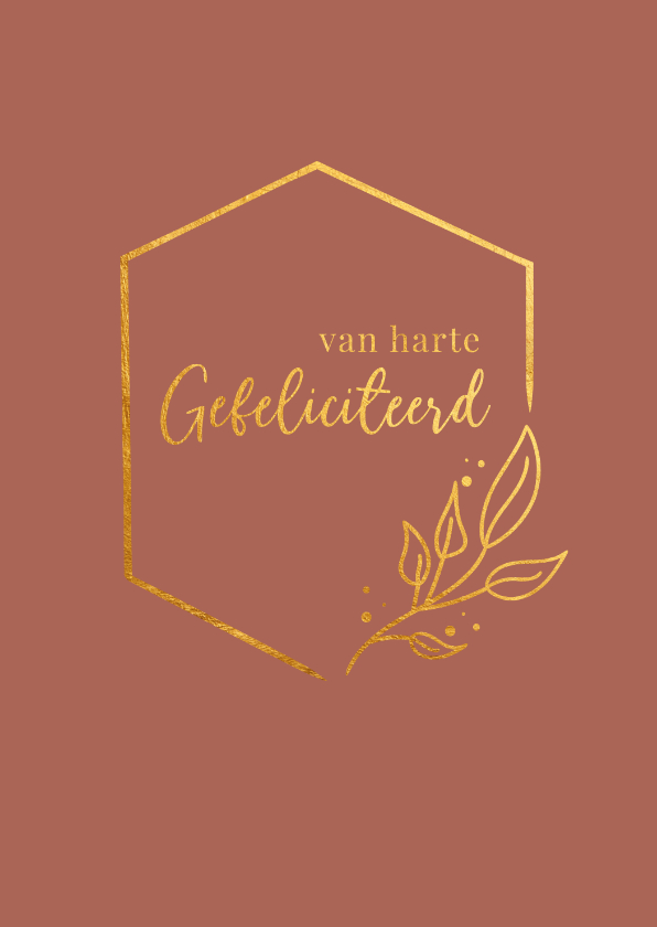 Felicitatiekaarten - Van harte gefeliciteerd - a touch of gold - felicitatiekaart