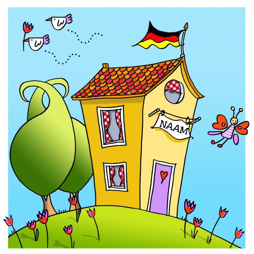 Felicitatiekaarten - Verhuiskaart met vogel