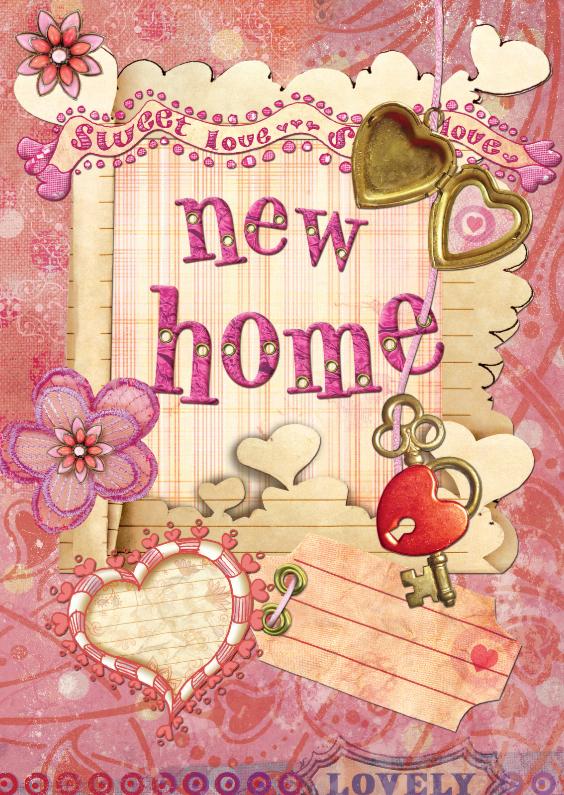 Felicitatiekaarten - Verhuiskaart - New Home 1 - SG