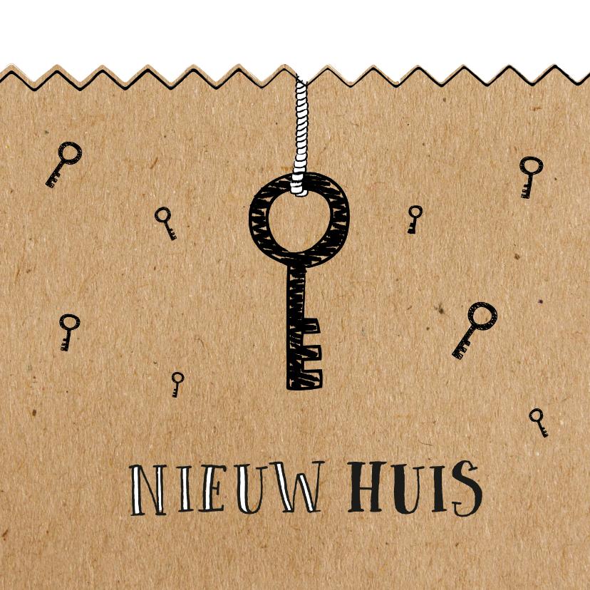 Felicitatiekaarten - Verhuiskaart voor de sleutel van nieuwe woning