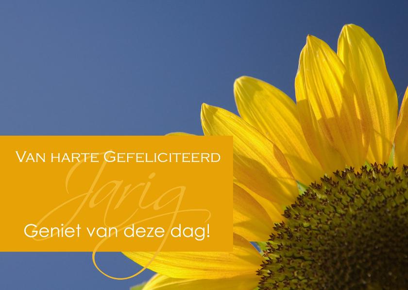 Felicitatiekaarten - Verjaardagskaart met zonnebloem