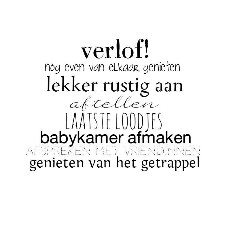 Felicitatiekaarten - Verlof!
