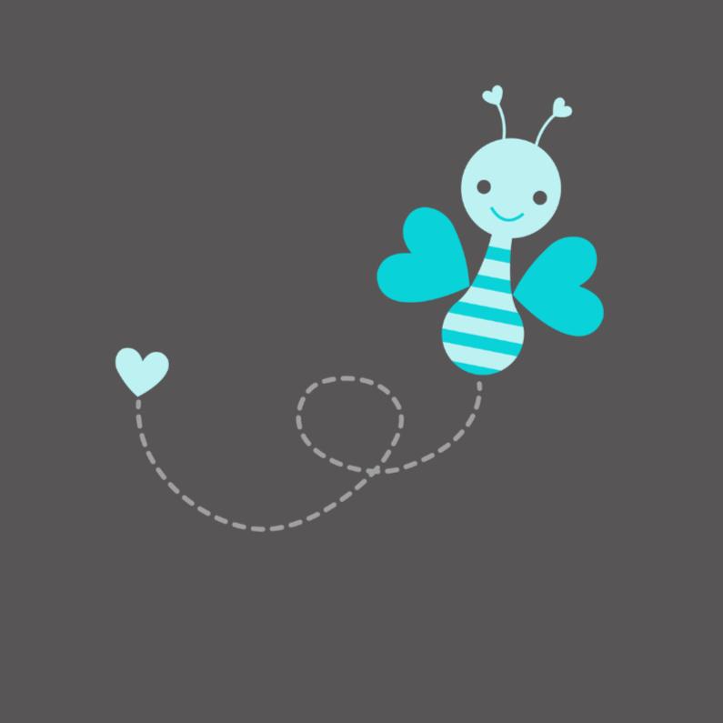 Felicitatiekaarten - Vrolijk blauw vlindertje