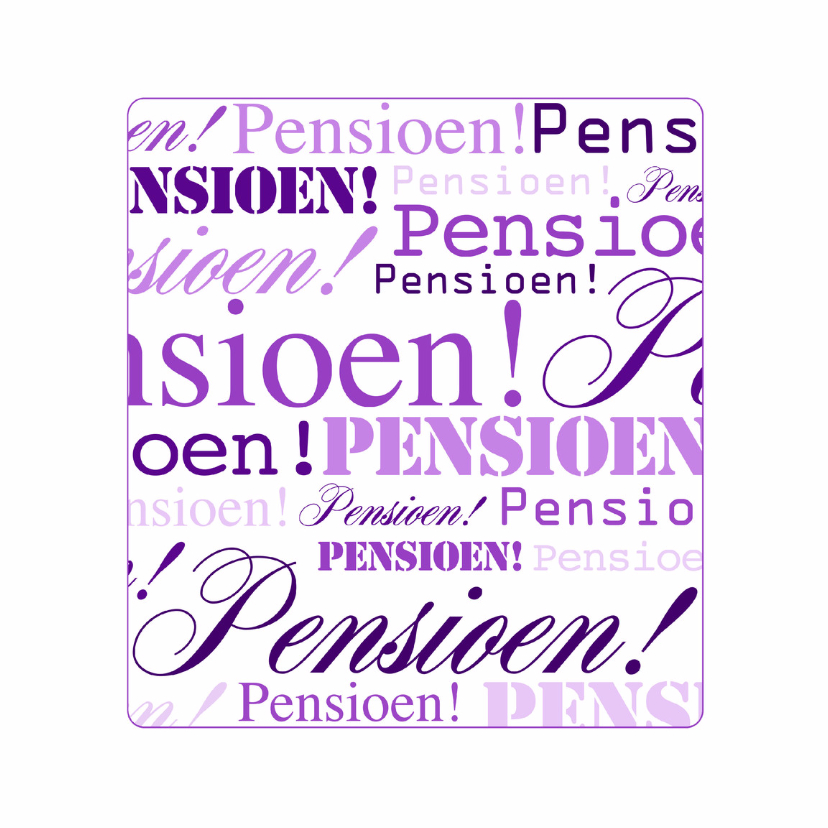 Felicitatiekaarten - Woorden Pensioen - BK