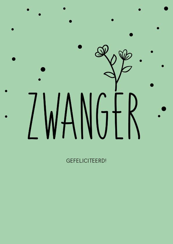 Felicitatiekaarten - Zwanger, gefeliciteerd - pastel