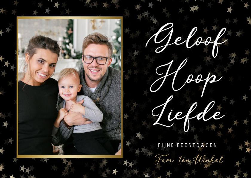 Fotokaarten - Christelijke fotokaart met eigen foto - geloof hoop liefde