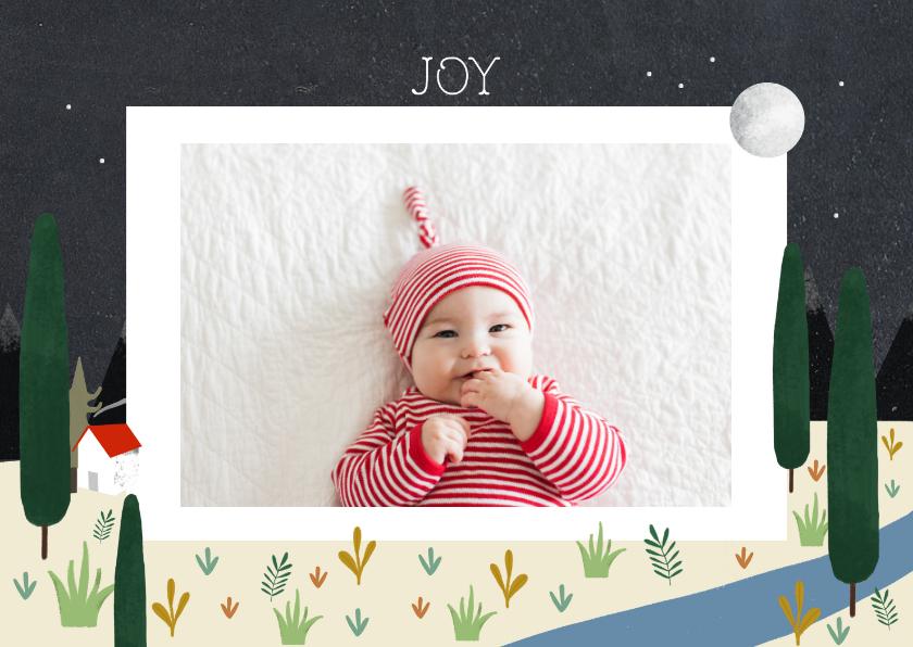 Fotokaarten - Christelijke fotokaart met illustratie en foto