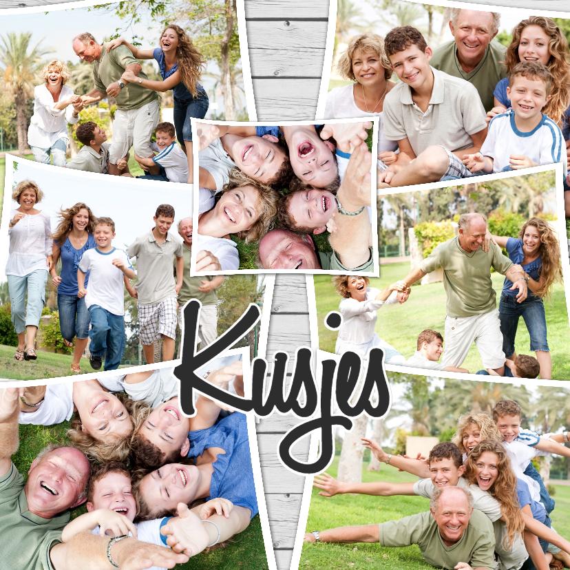 Fotokaarten - Collage Kusjes liefs - BK