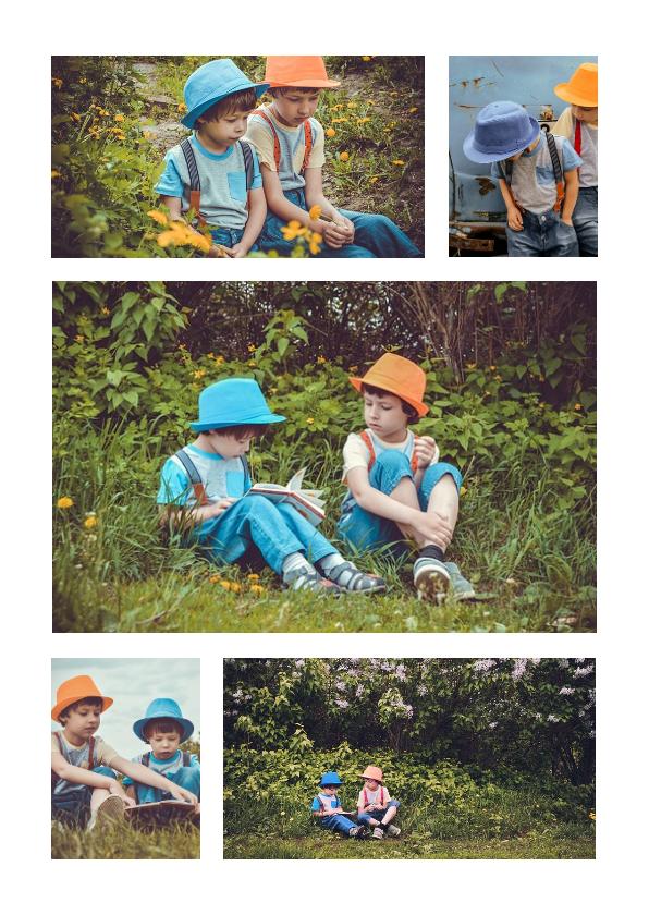 Fotokaarten - Collage met 5 foto's