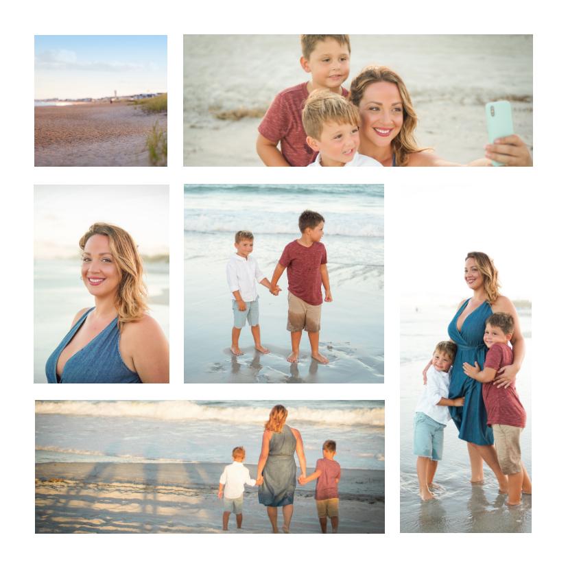 Fotokaarten - Collage vierkant met 6 foto's
