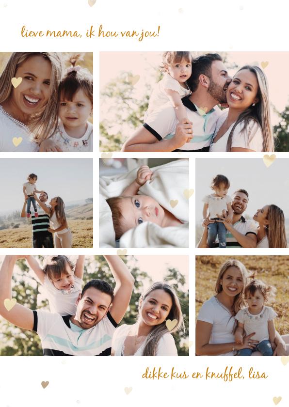 Fotokaarten - Collagekaart met 7 eigen foto's