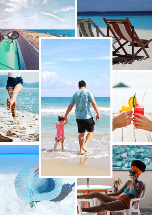 Fotokaarten - Collagekaart staand sjabloon met 7 foto's