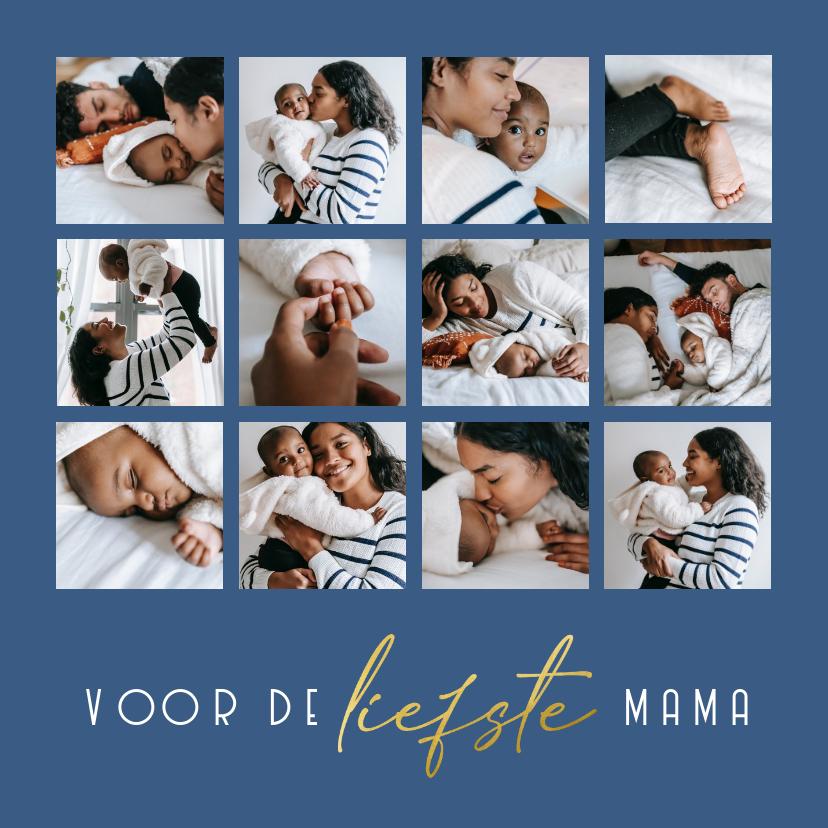 Fotokaarten - Collagekaart voor de liefste mama fotocollage 12 foto
