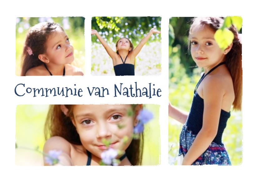 Fotokaarten - Communie collage 4 foto's - BK