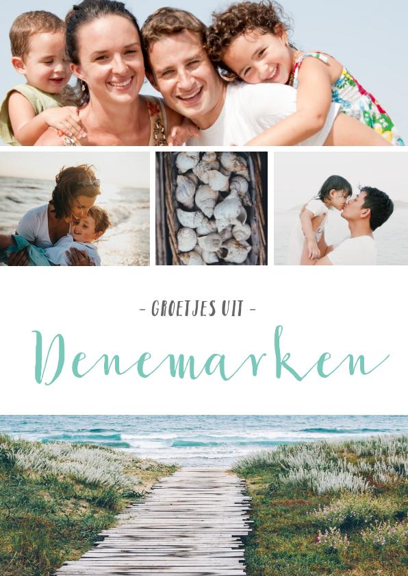 Fotokaarten - Foto vakantie ansichtkaart met 4 foto's en tekst