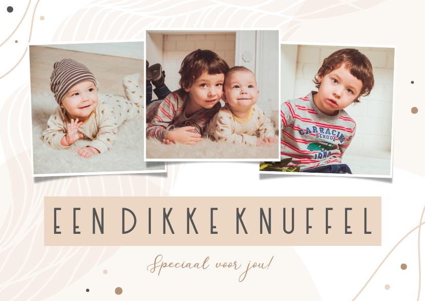 Fotokaarten - Fotocollage abstract dikke knuffel