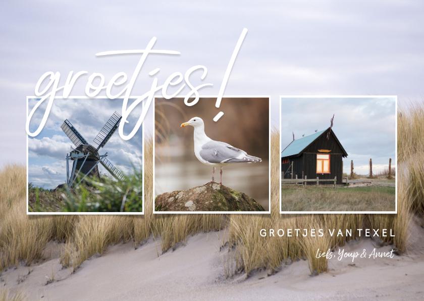 Fotokaarten - Fotocollage ansichtkaart eiland