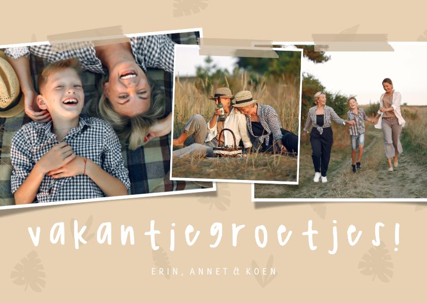 Fotokaarten - Fotocollage jungle blaadjes vakantiegroetjes