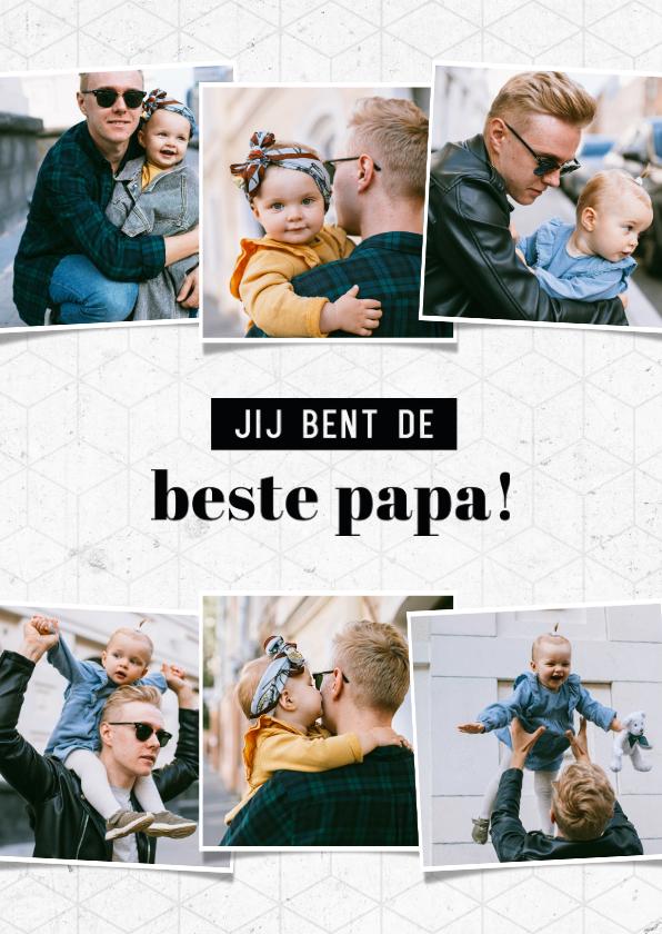 Fotokaarten - Fotocollage kaart jij bent de beste papa grafisch