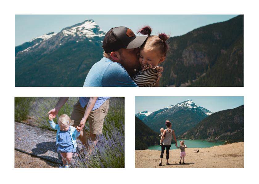 Fotokaarten - Fotocollage rechthoekig liggend met panorama foto