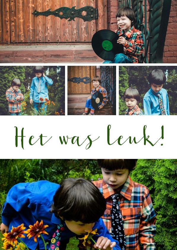Fotokaarten - Fotocollage rechthoekig staand 5 foto's