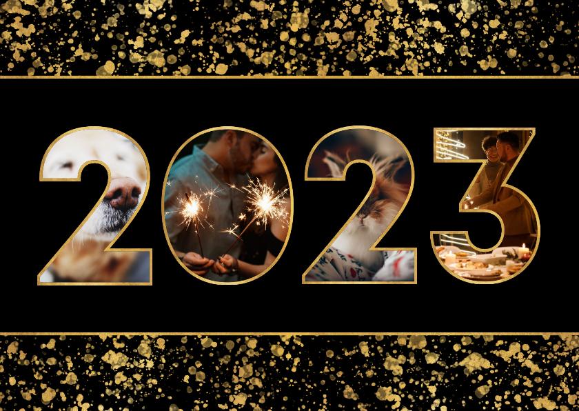Fotokaarten - Fotokaart 2022 fotocollage spetters
