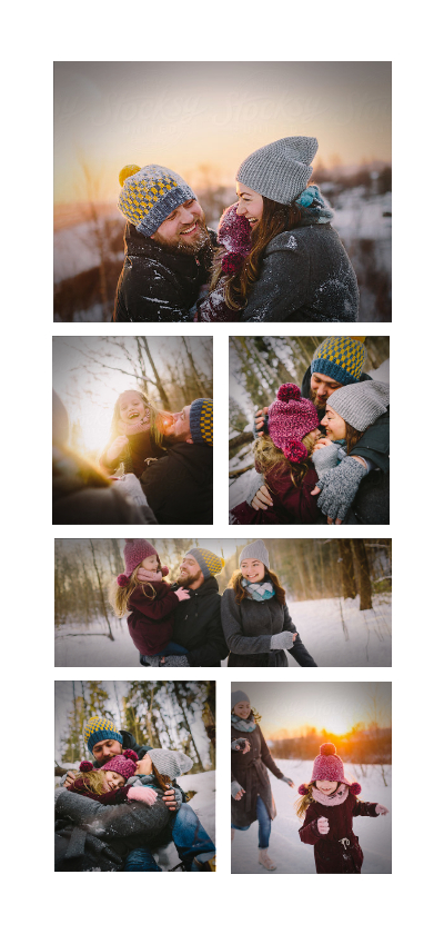 Fotokaarten - Fotokaart collage 6 foto's langwerpig