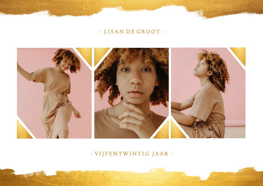 Fotokaarten - Fotokaart collage met gouden verf stijlvol