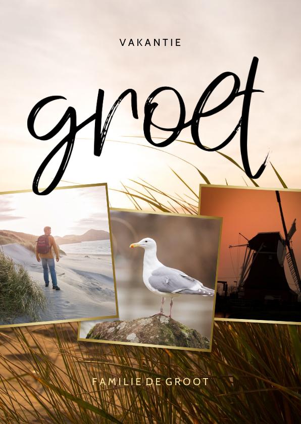 Fotokaarten - Fotokaart collage met grote foto