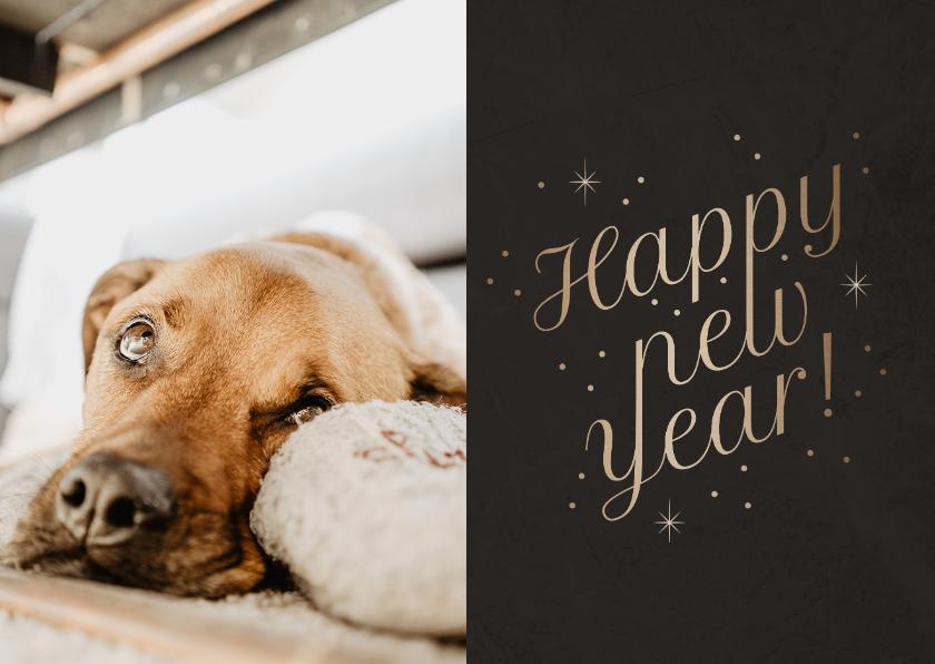 Fotokaarten - Fotokaart foto 'Happy New Year' fonkels
