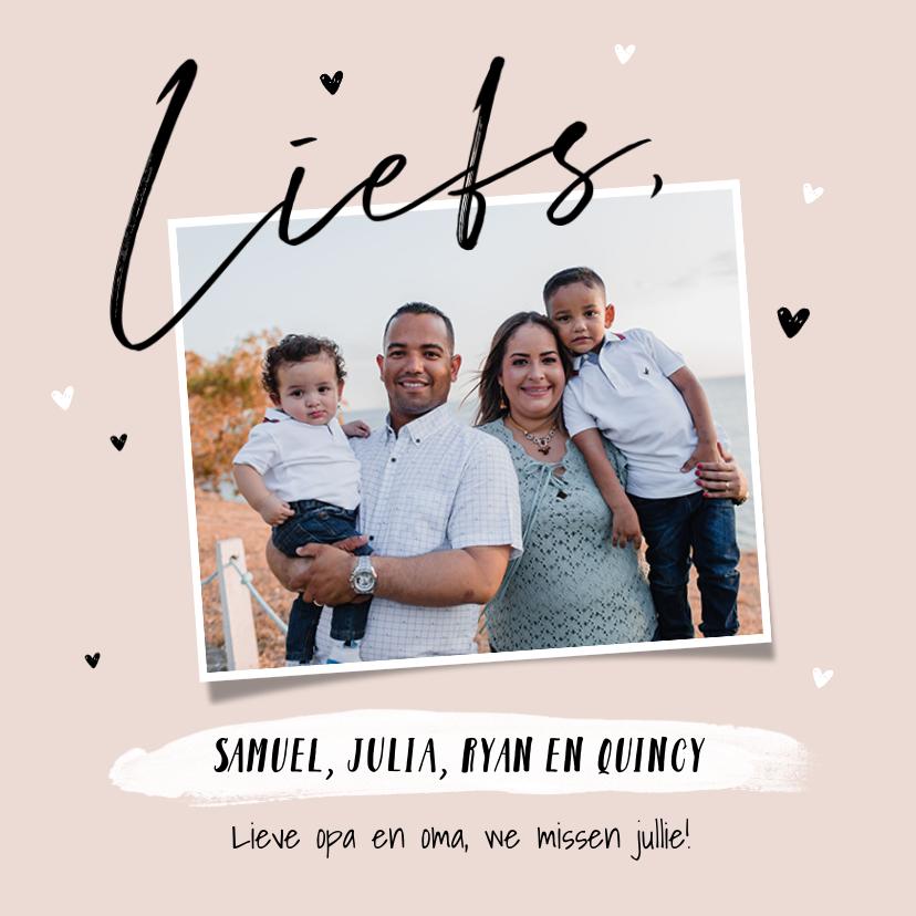 Fotokaarten - Fotokaart liefs fotocollage hartjes stijlvol