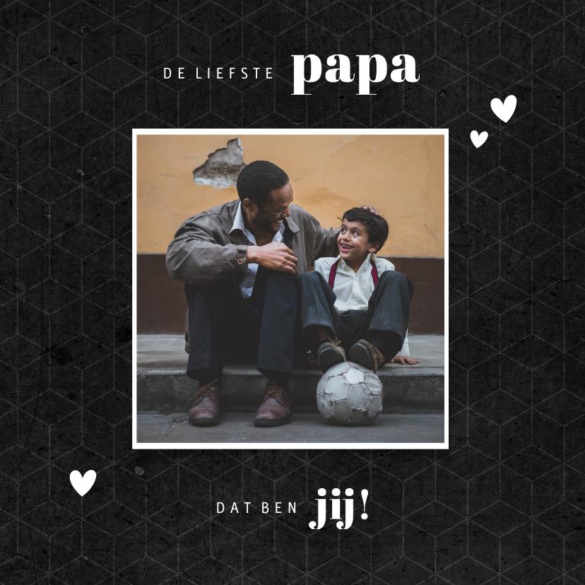 Fotokaarten - Fotokaart liefste PAPA grafisch donker