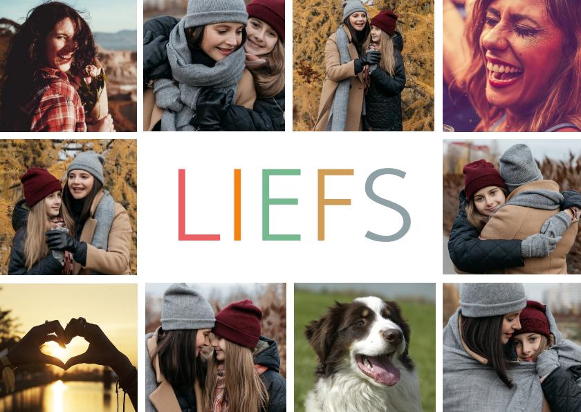 Fotokaarten - Fotokaart met 10 eigen foto's en Liefs