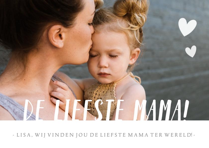 Fotokaarten - Fotokaart met grote eigen foto en liefste mama