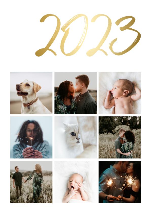 Fotokaarten - Fotokaart stijlvol '2022' goud
