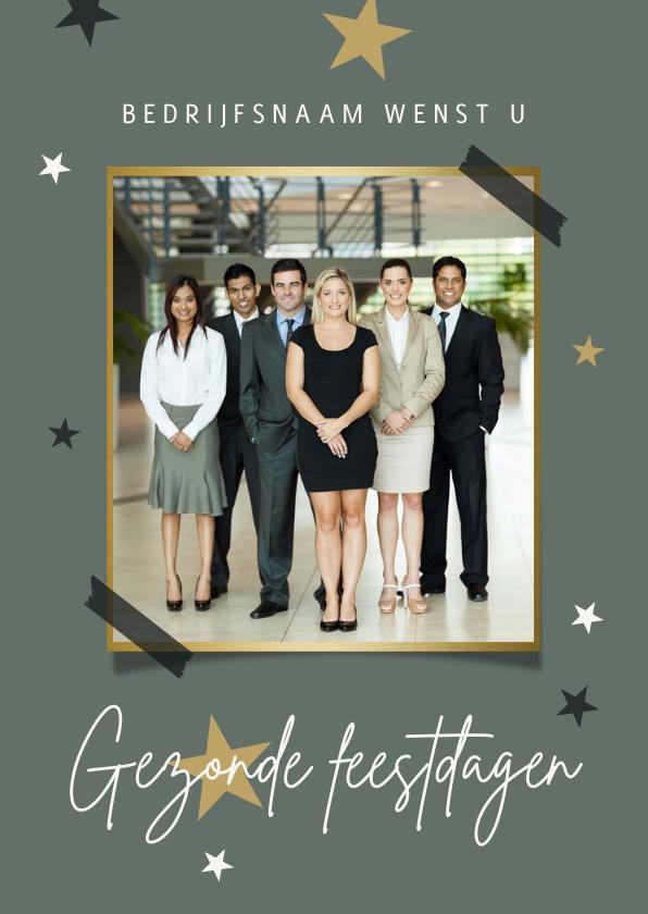 Fotokaarten - Fotokaart stijlvol sterren gezonde feestdagen
