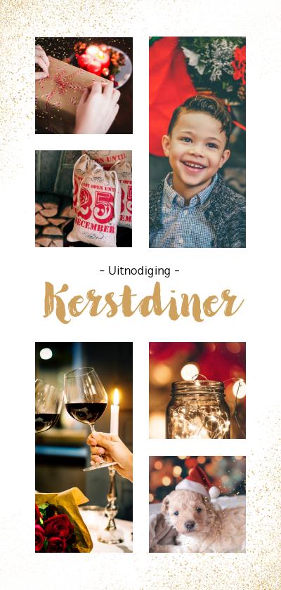 Fotokaarten - Fotokaart uitnodiging langwerpig met 6 eigen foto's