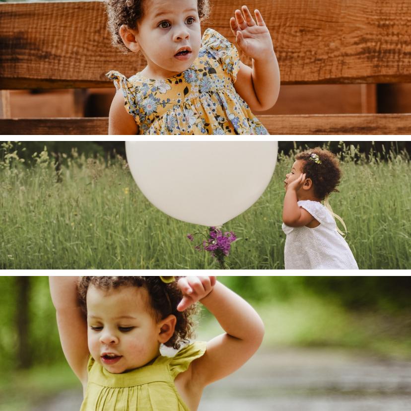 Fotokaarten - Fotokaart vierkant 3 foto's collage