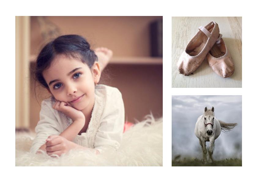 Fotokaarten - Kinderfeestje collage  - BK